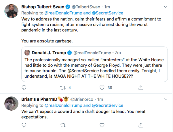 Screen-Shot-2020-05-30-at-9.41.33-AM Trump Instructs MAGA Followers To Confront Protestors Tonight At W.H. Black Lives Matter Donald Trump Featured Politics Protest Top Stories Twitter