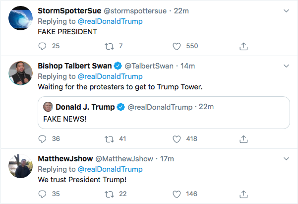 Screen-Shot-2020-05-31-at-8.31.55-PM Trump Shouts' FAKE NEWS!' During Sunday Afternoon Mental Collapse Black Lives Matter Donald Trump Featured Politics Top Stories Twitter