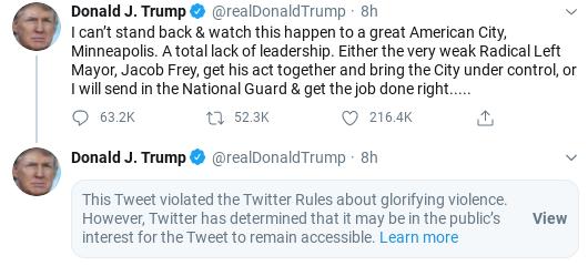 Screenshot-2020-05-29-at-9.44.17-AM Mayor Of Minneapolis Trolls Trump Over Failed Leadership & Goes Viral Donald Trump Politics Social Media Top Stories