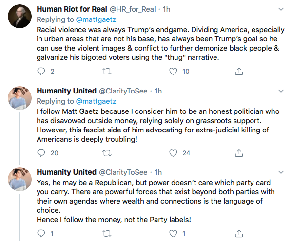 Screen-Shot-2020-06-01-at-10.10.05-PM Violent Tweet From Rep. Matt Gaetz (R-FL) Removed On Twitter Conspiracy Theory Donald Trump Featured Politics Social Media Top Stories Twitter