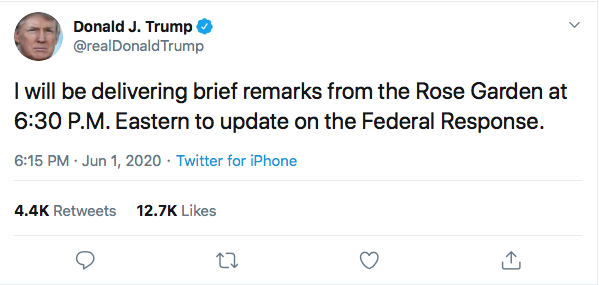 Screen-Shot-2020-06-01-at-6.19.41-PM Trump Mobilizing U.S. Troops On American Soil Via 1807 Act Black Lives Matter Donald Trump Featured Politics Racism Top Stories Twitter