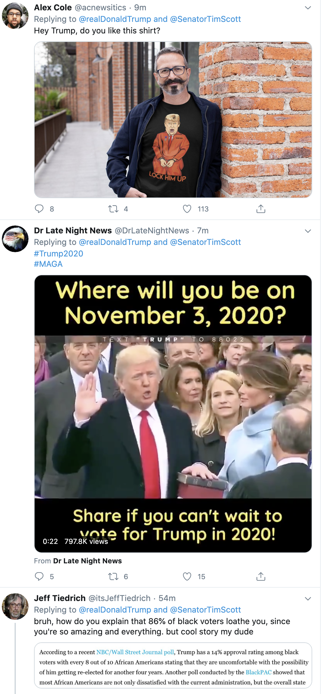 Screen-Shot-2020-06-02-at-2.27.43-PM Trump Declares Black People Love Him During Unhinged Afternoon Outburst Black Lives Matter Featured Military Politics Top Stories