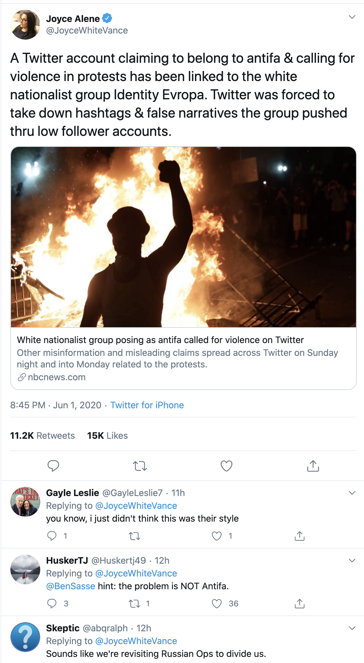 Screen-Shot-2020-06-02-at-9.38.46-AM Nazi Group Caught Using Fake 'ANTIFA' Online Accounts To Start Violence Black Lives Matter Corruption Featured Politics Top Stories
