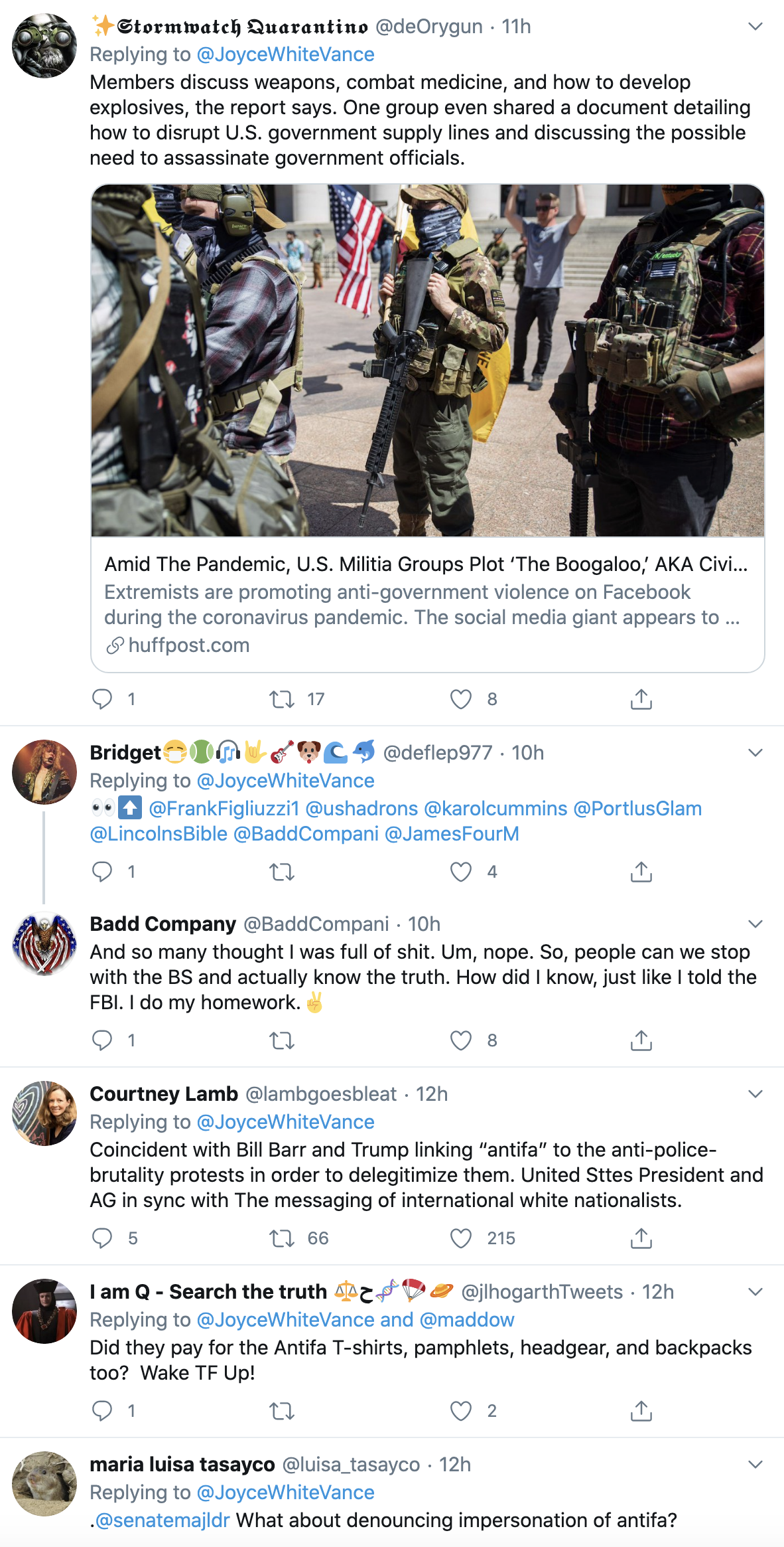 Screen-Shot-2020-06-02-at-9.39.03-AM Nazi Group Caught Using Fake 'ANTIFA' Online Accounts To Start Violence Black Lives Matter Corruption Featured Politics Top Stories