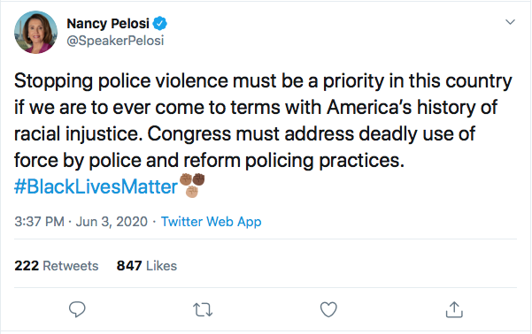 Screen-Shot-2020-06-03-at-3.40.55-PM Pelosi Makes A Chump Of Trump During Wednesday Protest Appearance Black Lives Matter Donald Trump Featured Politics Top Stories
