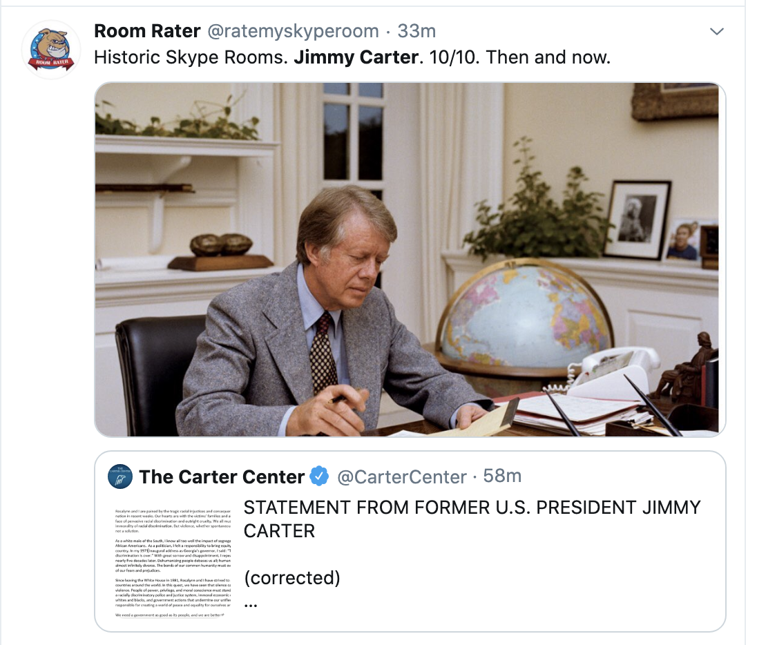 Screen-Shot-2020-06-03-at-3.54.18-PM Jimmy Carter Shows GOP How To Lead With Patriotic Protest Message Black Lives Matter Corruption Featured Racism Top Stories