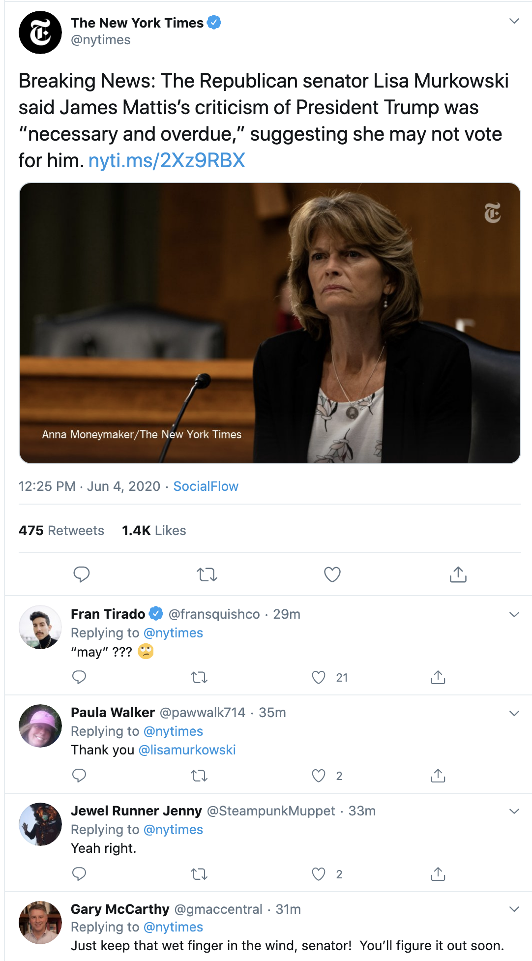 Screen-Shot-2020-06-04-at-1.01.48-PM GOP Senator Signals Possible No Vote For Trump In 2020 Corruption Featured Military Politics Top Stories