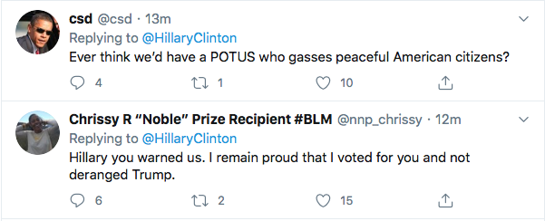 Screen-Shot-2020-06-04-at-2.17.24-PM Hillary References 'Tiananmen Square' To Defeat Trump During Thursday Tweet Black Lives Matter Donald Trump Election 2020 Featured Hillary Clinton Politics Top Stories Twitter