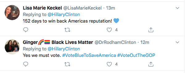 Screen-Shot-2020-06-04-at-2.17.52-PM Hillary References 'Tiananmen Square' To Defeat Trump During Thursday Tweet Black Lives Matter Donald Trump Election 2020 Featured Hillary Clinton Politics Top Stories Twitter