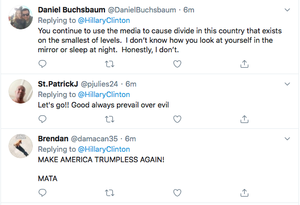 Screen-Shot-2020-06-04-at-2.22.44-PM Hillary References 'Tiananmen Square' To Defeat Trump During Thursday Tweet Black Lives Matter Donald Trump Election 2020 Featured Hillary Clinton Politics Top Stories Twitter