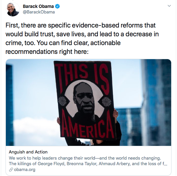 Screen-Shot-2020-06-04-at-8.24.26-PM Obama Issues 3-Tweet Instructions To America Like Our Real President Black Lives Matter Donald Trump Featured Politics Racism Top Stories Twitter