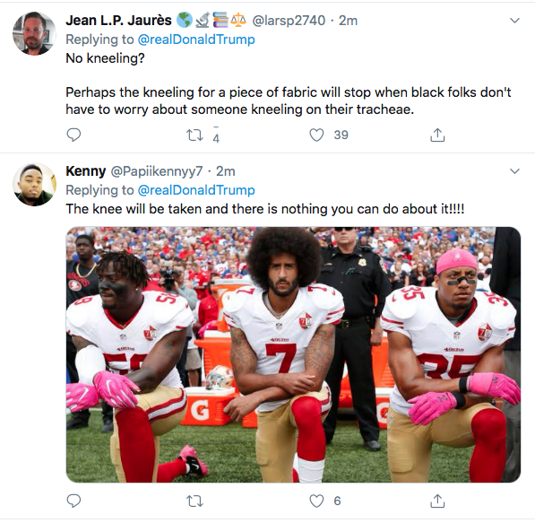 Screen-Shot-2020-06-05-at-4.12.56-PM Trump Yells 'No Kneeling' At Drew Brees During Friday Protest Meltdown Black Lives Matter Donald Trump Featured Politics Racism Top Stories Twitter