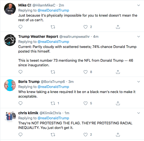 Screen-Shot-2020-06-05-at-4.13.55-PM Trump Yells 'No Kneeling' At Drew Brees During Friday Protest Meltdown Black Lives Matter Donald Trump Featured Politics Racism Top Stories Twitter