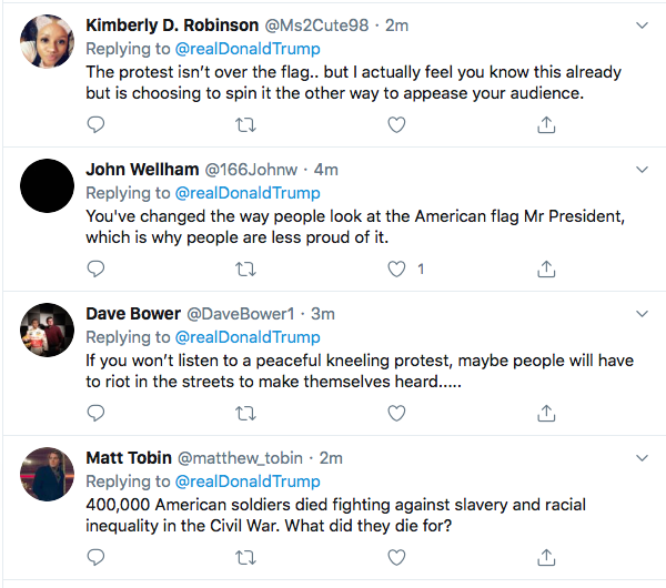 Screen-Shot-2020-06-05-at-4.14.38-PM Trump Yells 'No Kneeling' At Drew Brees During Friday Protest Meltdown Black Lives Matter Donald Trump Featured Politics Racism Top Stories Twitter
