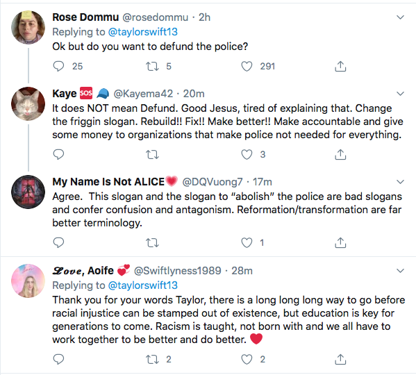 Screen-Shot-2020-06-09-at-5.44.39-PM Taylor Swift Becomes GOP's Nightmare With 2020 Vote Declaration Black Lives Matter Celebrities Donald Trump Featured Politics Protest Racism Top Stories Twitter