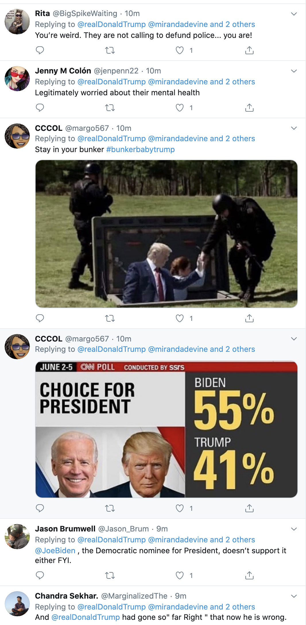 Screen-Shot-2020-06-09-at-7.21.33-AM Trump Sees Morning Polls & Erupts Into Unhinged 6-Tweet Meltdown Election 2020 Featured Police Misconduct Politics Top Stories