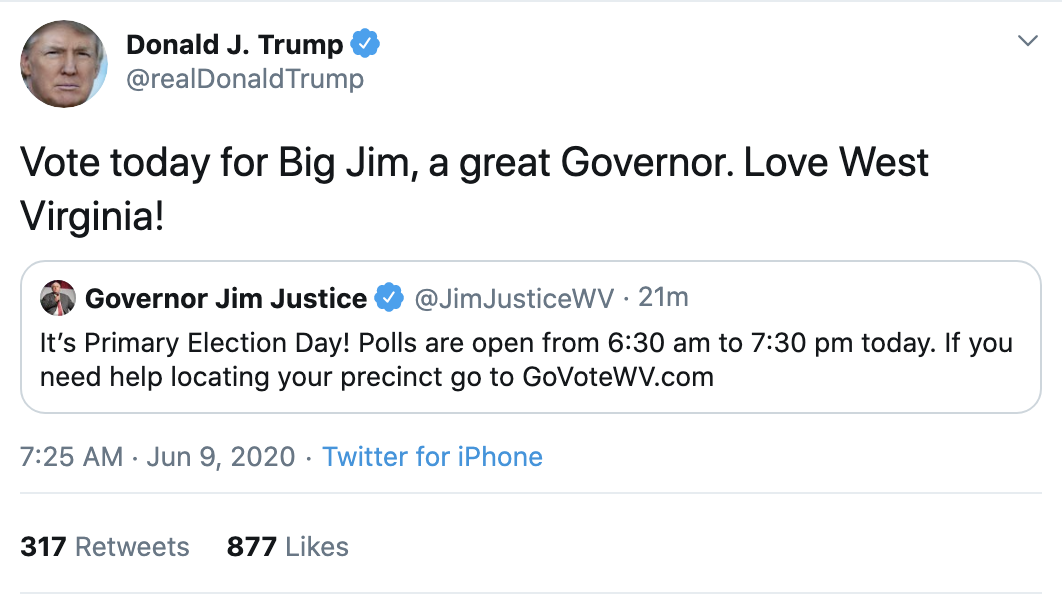 Screen-Shot-2020-06-09-at-7.27.12-AM Trump Sees Morning Polls & Erupts Into Unhinged 6-Tweet Meltdown Election 2020 Featured Police Misconduct Politics Top Stories