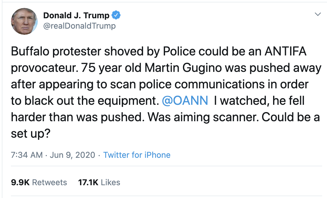 Screen-Shot-2020-06-09-at-7.51.22-AM Trump Sees Morning Polls & Erupts Into Unhinged 6-Tweet Meltdown Election 2020 Featured Police Misconduct Politics Top Stories