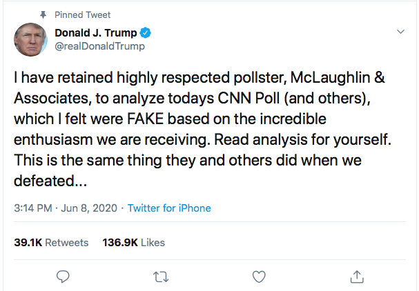 Screen-Shot-2020-06-09-at-9.59.48-AM Trump Sees Morning Tweet Criticism & Launches Into 2nd Tuesday Meltdown Black Lives Matter Donald Trump Featured Politics Top Stories Twitter