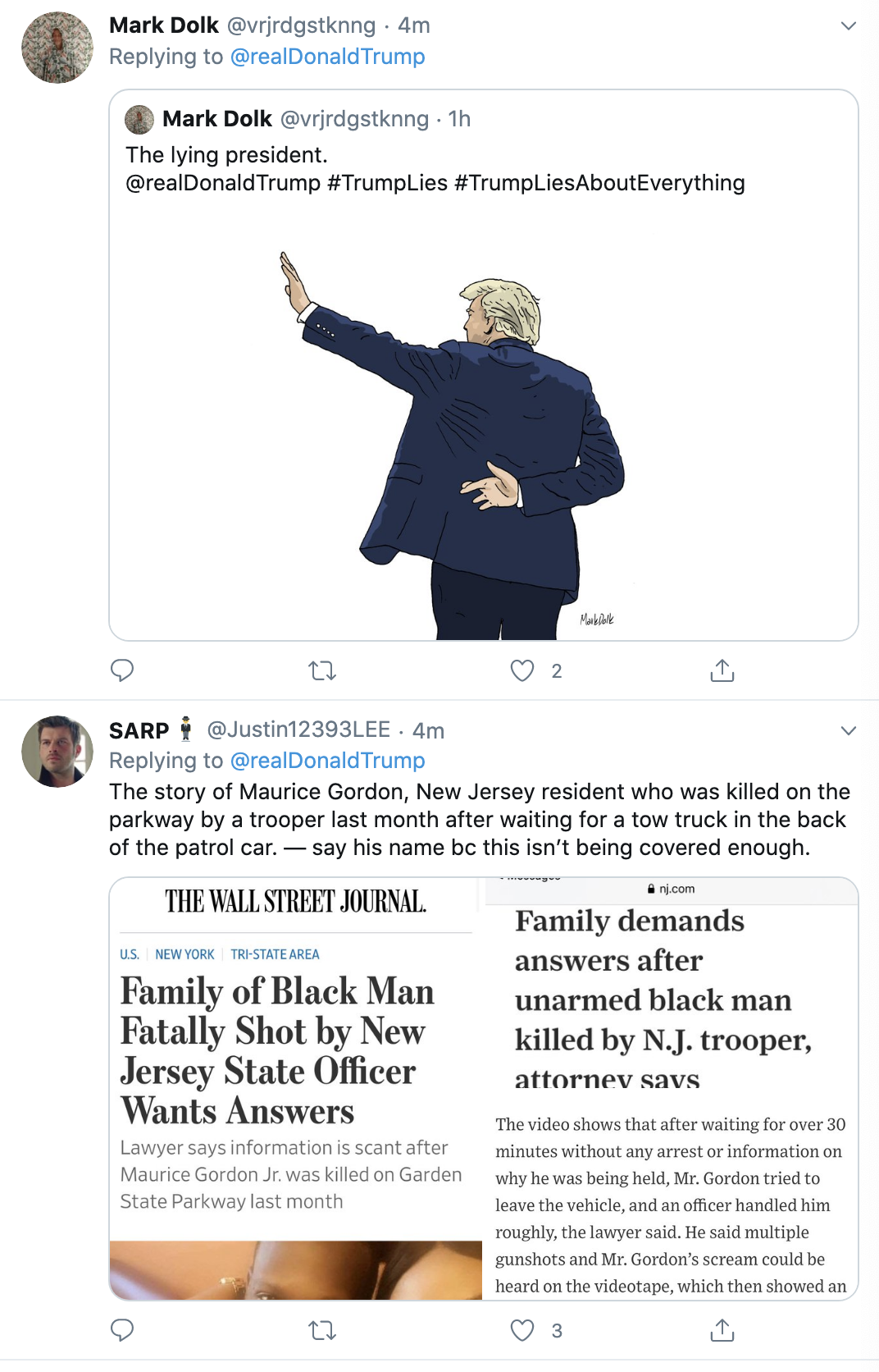 Screen-Shot-2020-06-10-at-7.55.52-AM Trump Wakes Up, Wigs Out, & Brags About Rich People Getting Richer Economy Election 2020 Politics Top Stories