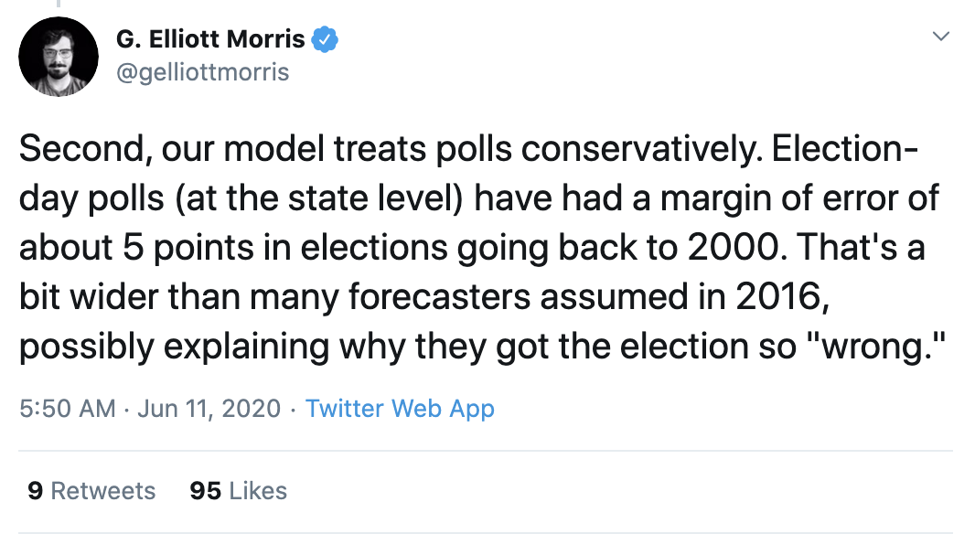 Screen-Shot-2020-06-11-at-3.26.09-PM Prestigious Electoral College Prediction Model Shows 100+ Point Blowout Election 2020 Featured Politics Polls Top Stories