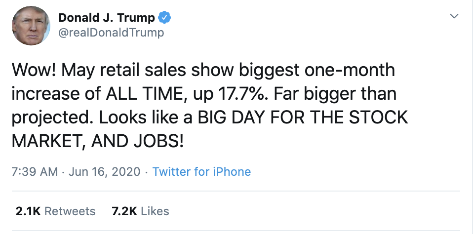 Screen-Shot-2020-06-16-at-7.43.04-AM Trump Snarls Gibberish About The Economy During Tuesday Meltdown Economy Election 2020 Featured Politics Top Stories