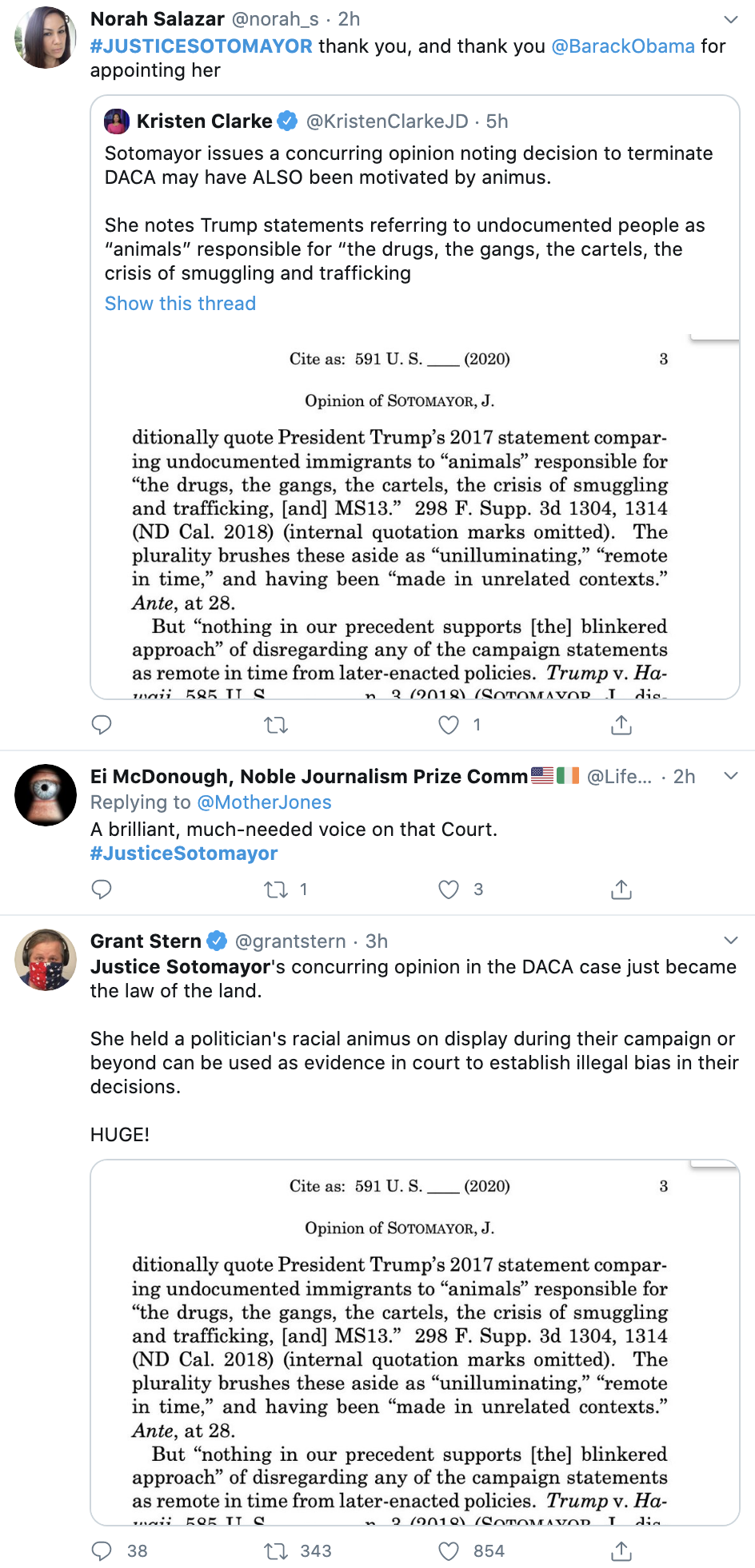 Screen-Shot-2020-06-18-at-2.57.49-PM Justice Sotomayor Shames GOP Justice By Name During Fiery Rebuke DACA Featured Politics Supreme Court Top Stories