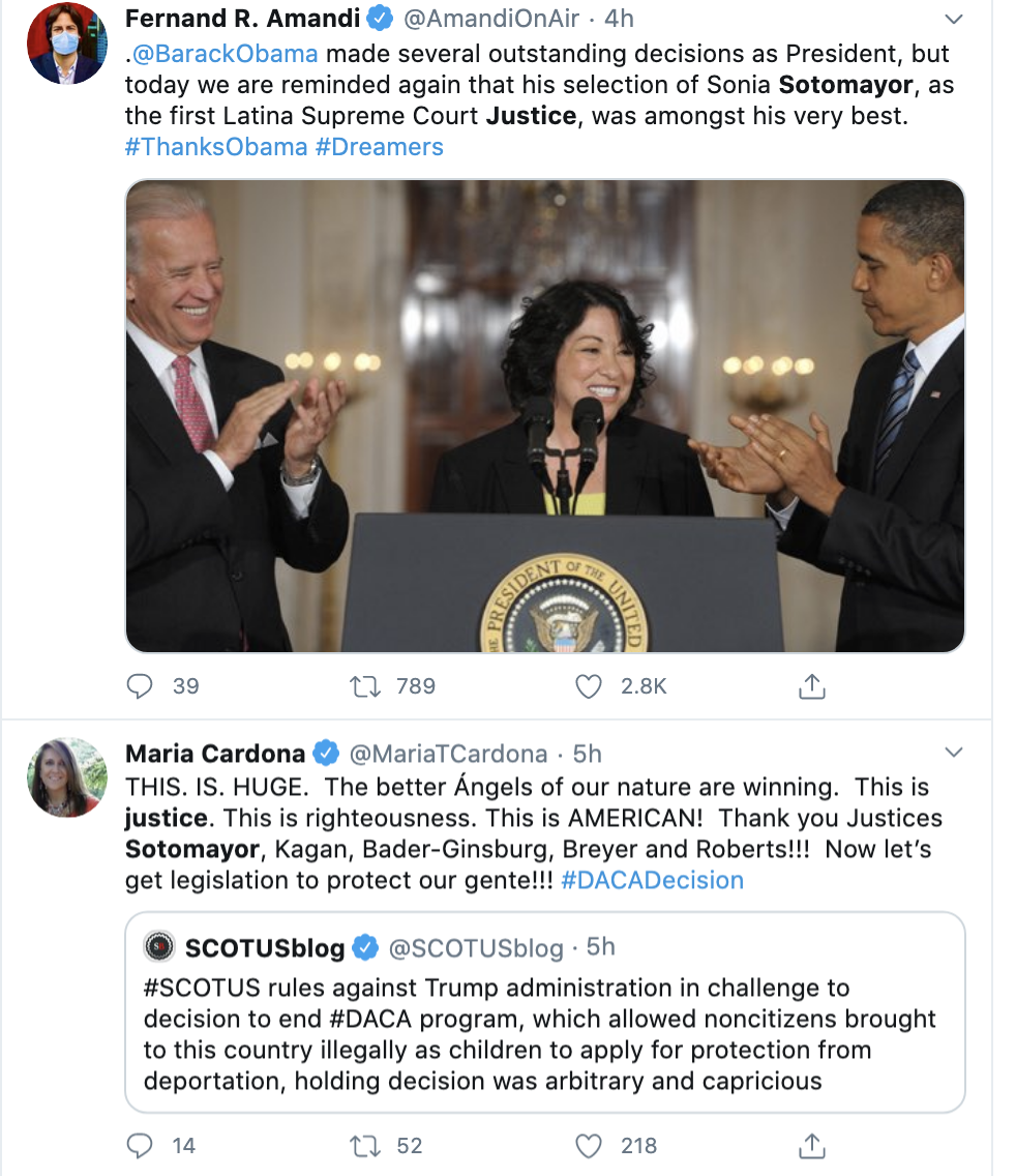 Screen-Shot-2020-06-18-at-2.58.16-PM Justice Sotomayor Shames GOP Justice By Name During Fiery Rebuke DACA Featured Politics Supreme Court Top Stories