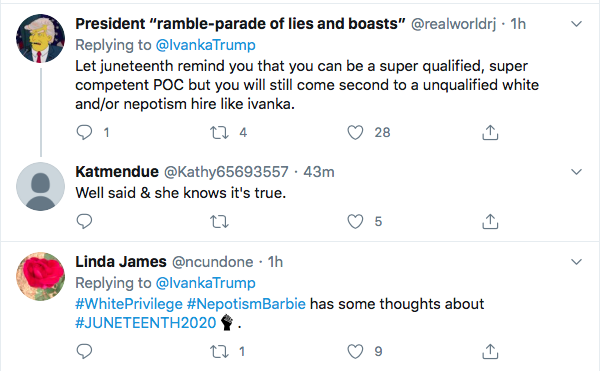 Screen-Shot-2020-06-19-at-9.49.59-AM Ivanka Attempts Tweeting About Juneteenth But Gets Rejected Hard Black Lives Matter Donald Trump Election 2020 Featured Politics Racism Top Stories Twitter