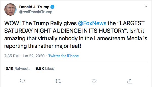 Screen-Shot-2020-06-22-at-7.41.04-PM Fox News Host Burns Trump In Response To Monday Rage Tweet Donald Trump Featured Politics Top Stories Twitter