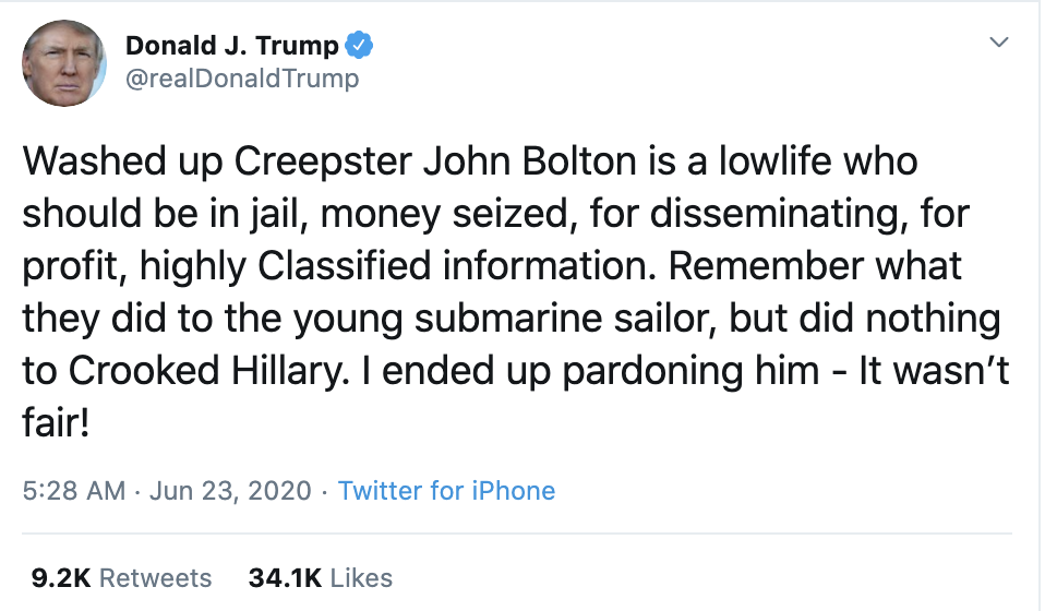 Screen-Shot-2020-06-23-at-7.10.49-AM Trump Threatens Arrest Of Bolton & Black Protestors During Morning Meltdown Coronavirus Featured Healthcare Politics Top Stories