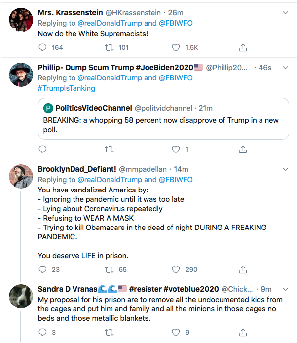 Screen-Shot-2020-06-26-at-1.43.29-PM Trump Tweets Wanted Protestor Poster Like A Deranged Sheriff Of The Wild West Black Lives Matter Donald Trump Election 2020 Featured Politics Racism Top Stories Twitter