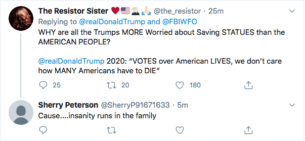 Screen-Shot-2020-06-26-at-1.44.23-PM Trump Tweets Wanted Protestor Poster Like A Deranged Sheriff Of The Wild West Black Lives Matter Donald Trump Election 2020 Featured Politics Racism Top Stories Twitter