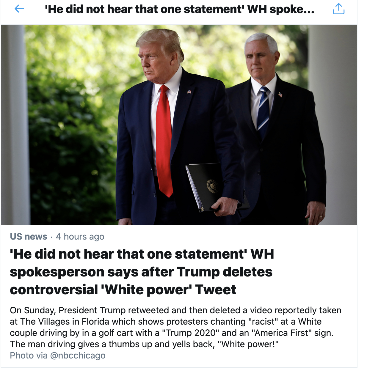 Screen-Shot-2020-06-28-at-3.22.03-PM Public Responds To Trump's Controversial 'White Power' Tweet Featured Politics Racism Top Stories