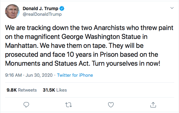 Trump Announces Prison For Protestors During Tuesday Morning Meltdown