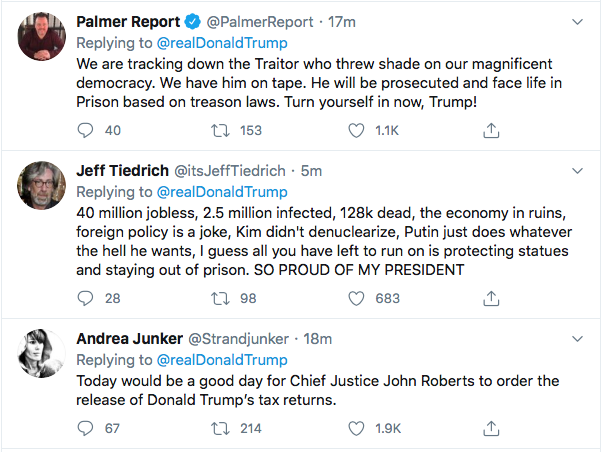 Screen-Shot-2020-06-30-at-9.36.28-AM Trump Announces Prison For Protestors During Tuesday AM Meltdown Donald Trump Election 2020 Featured Politics Protest Top Stories Twitter