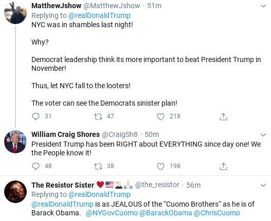 Screenshot-2020-06-02-at-12.09.21-PM Trump Calls NYC Residents 'Lowlifes & Losers' During Tuesday Emotional Collapse Black Lives Matter Donald Trump Politics Social Media Top Stories