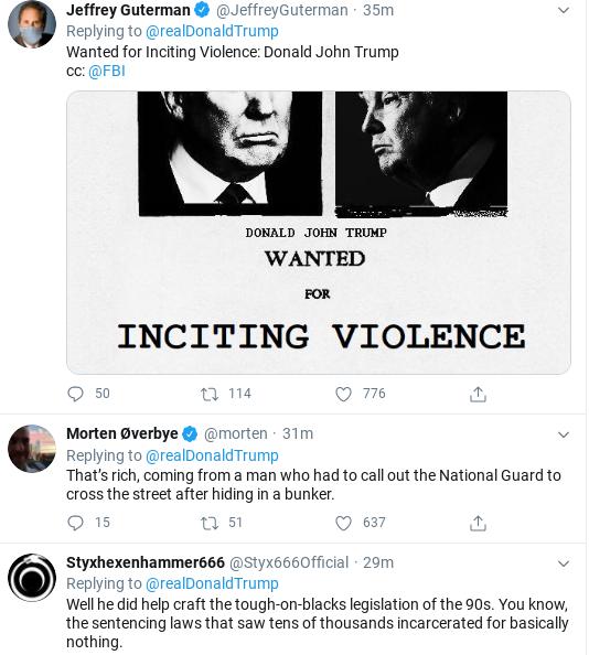 Screenshot-2020-06-02-at-4.33.10-PM Trump Has Late Afternoon Tantrum Calling Legit Protestors 'Thugs' Donald Trump Politics Social Media Top Stories