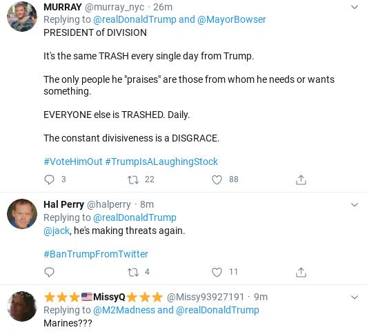 Screenshot-2020-06-05-at-2.36.45-PM Trump Threatens 'Incompetent' Black DC Mayor During Friday Freakout Donald Trump Politics Social Media Top Stories