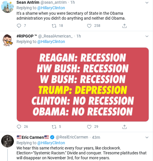 Screenshot-2020-06-06-at-3.47.38-PM Hillary Shows Up Trump With Saturday Protest Message To Voters Donald Trump Politics Racism Social Media Top Stories