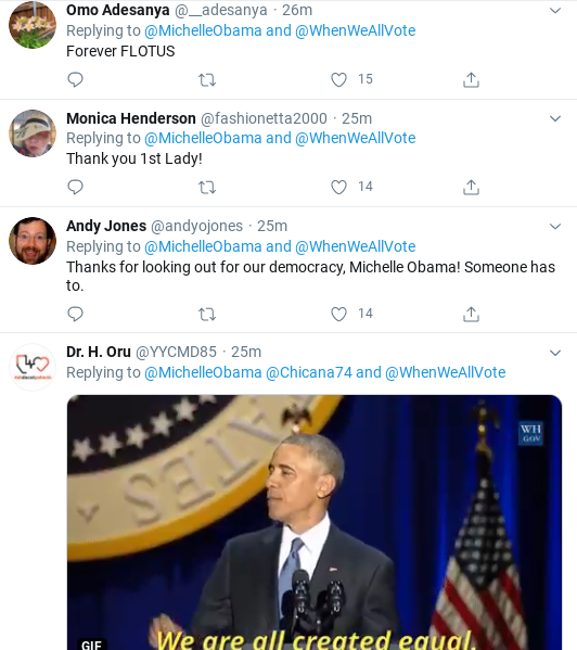 Screenshot-2020-06-11-at-12.57.19-PM Michelle Obama Calls Out Republican Voter Suppression In Thursday Message Donald Trump Election 2020 Politics Social Media Top Stories