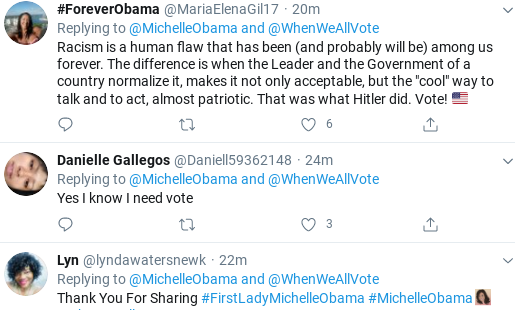 Screenshot-2020-06-11-at-12.57.33-PM Michelle Obama Calls Out Republican Voter Suppression In Thursday Message Donald Trump Election 2020 Politics Social Media Top Stories