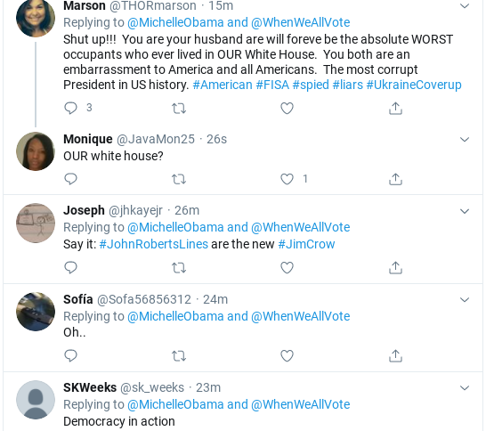 Screenshot-2020-06-11-at-12.58.11-PM Michelle Obama Calls Out Republican Voter Suppression In Thursday Message Donald Trump Election 2020 Politics Social Media Top Stories