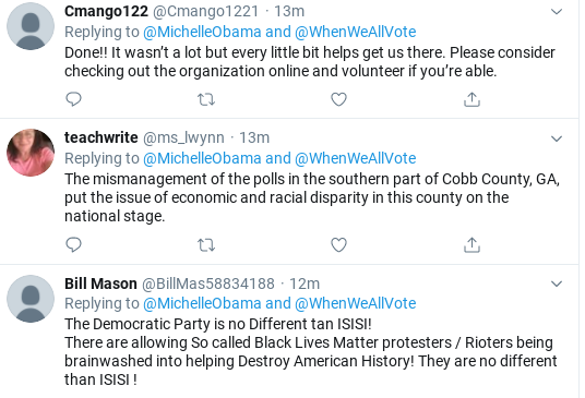 Screenshot-2020-06-11-at-12.59.44-PM Michelle Obama Calls Out Republican Voter Suppression In Thursday Message Donald Trump Election 2020 Politics Social Media Top Stories