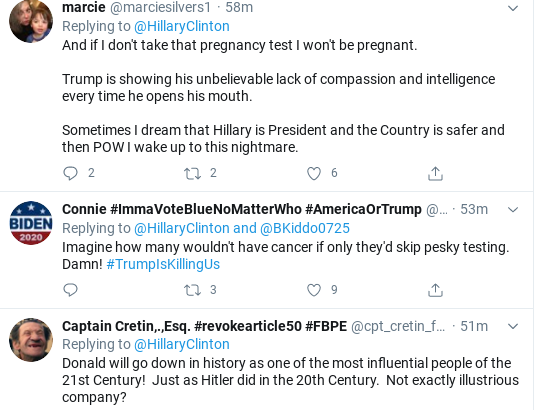 Screenshot-2020-06-26-at-12.54.25-PM Hillary Shames Trump Over Dopey COVID-19 Testing Conspiracy Donald Trump Healthcare Politics Social Media Top Stories
