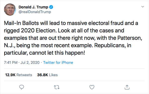 Screen-Shot-2020-07-02-at-8.59.25-PM Trump Rage Tweets At 'Rigged Election' During Thursday Night Emotional Breakdown Donald Trump Election 2020 Featured Politics Top Stories Twitter