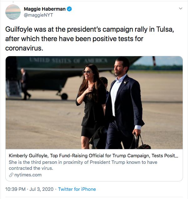 Screen-Shot-2020-07-03-at-10.44.40-PM Trump Jr's Girlfriend Tests Positive For COVID-19 Coronavirus Donald Trump Election 2020 Featured Politics Top Stories