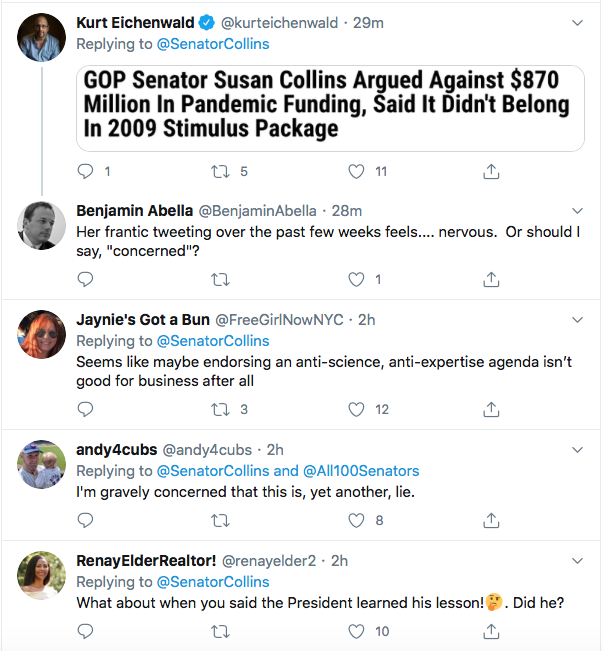 Screen-Shot-2020-07-04-at-1.56.29-PM Susan Collins' Phony 4th Of July Message Goes Horribly Wrong Coronavirus Donald Trump Election 2020 Featured Politics Top Stories Twitter