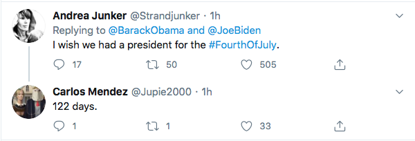 Screen-Shot-2020-07-04-at-11.47.36-AM Obama Responds Biden's 4th Of July Tweet Like A U.S. Hero Donald Trump Election 2020 Featured Politics Top Stories Twitter