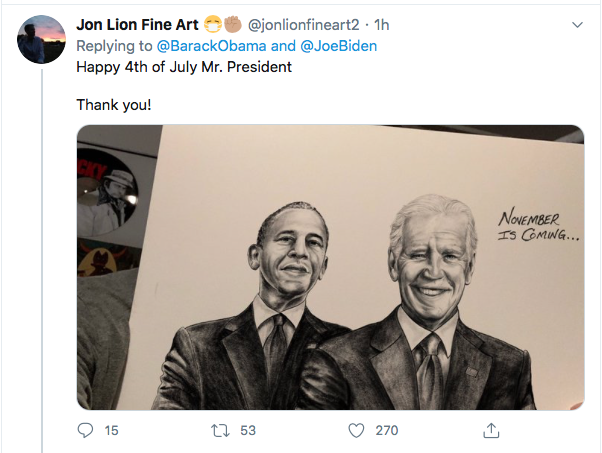 Screen-Shot-2020-07-04-at-11.48.15-AM Obama Responds Biden's 4th Of July Tweet Like A U.S. Hero Donald Trump Election 2020 Featured Politics Top Stories Twitter